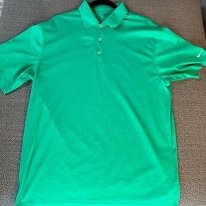 Nike green golf shirt